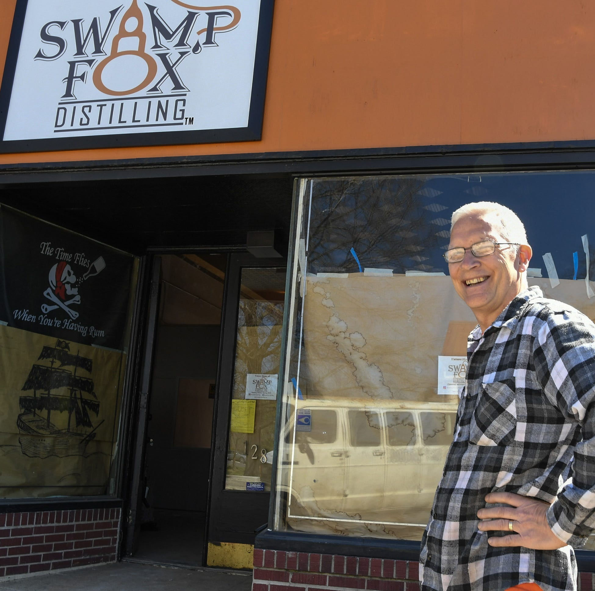 Swamp Fox Distilling, a rum distillery, hopes to be open by June in Pendleton