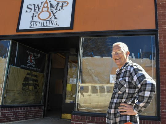 """Ernie Wagner, Swamp Fox Distilling owner, hopes to open his store on the square in Pendleton around June. The 30-year home brewer visited dozens of other breweries to get ideas and best practices. """"It brings in business for everybody, not just us,"""" Wagner said of getting his business with other established businesses in the square of Pendleton."""