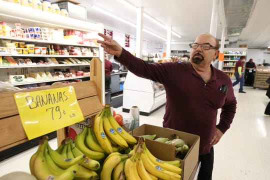 George Glory, one of the owners of Glory's Discount Market, Inc., which recently reopened after a massive renovation and remodeling project after a truck hit the building last year, talks about the renovation and reopening in Jackson, NJ Monday, March 25, 2019.