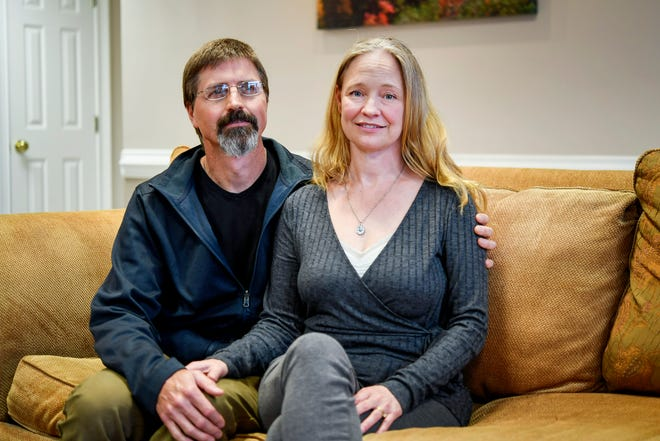Mark and Shelley Baldwin spoke to Citizen Times reporters in their attorney's office in Asheville March 21, 2019.