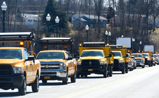 A funeral procession for Dennis Matthew Howe was held Monday in Owego. Howe was employed by the New York State Department of Transportation and died from injuries following a March 13 collision on Route 17 in Tioga County.