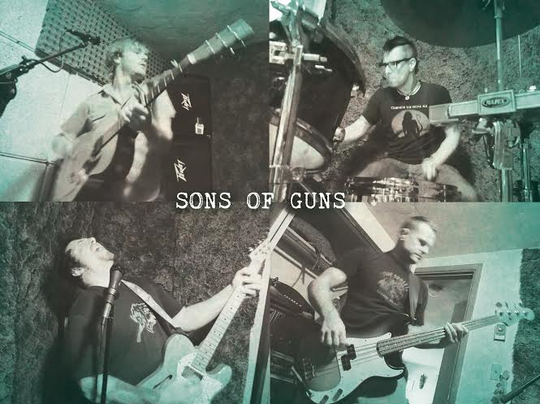 Sons of Guns (clockwise from top left, Gregory Rawlins, Seth Johnson, EJ Sander and Mike Surber) play at the Manette March 29.