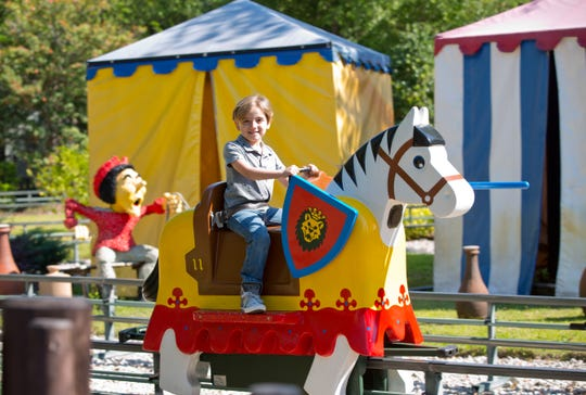 """Modern Family"" star Jeremy Maguire, who plays Joe Pritchett on the hit TV show, was the first guest to experience the Lego Movie World Land at Legoland Florida, which officially opens March 27, 2019."