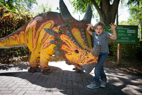 """Modern Family"" star Jeremy Maguire, who plays Joe Pritchett, was the first guest to experience the Lego Movie World Land at Legoland Florida, which officially opens March 27, 2019."