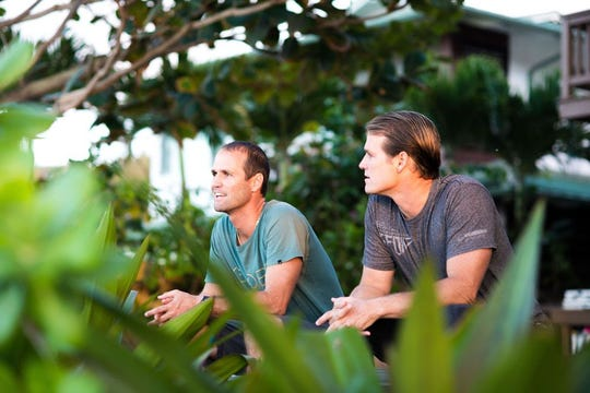 Justin Purser's new documentary of twins C.J., left, and Damien Hobgood will show how a fierce competitiveness throughout their lives led them to become two of the greatest surfers in the world.