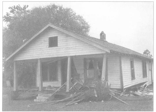 The house of Harry T. and Harriette V. Moore after the bombing on Dec. 25, 1951. Both Moores died from injuries from the explosion.