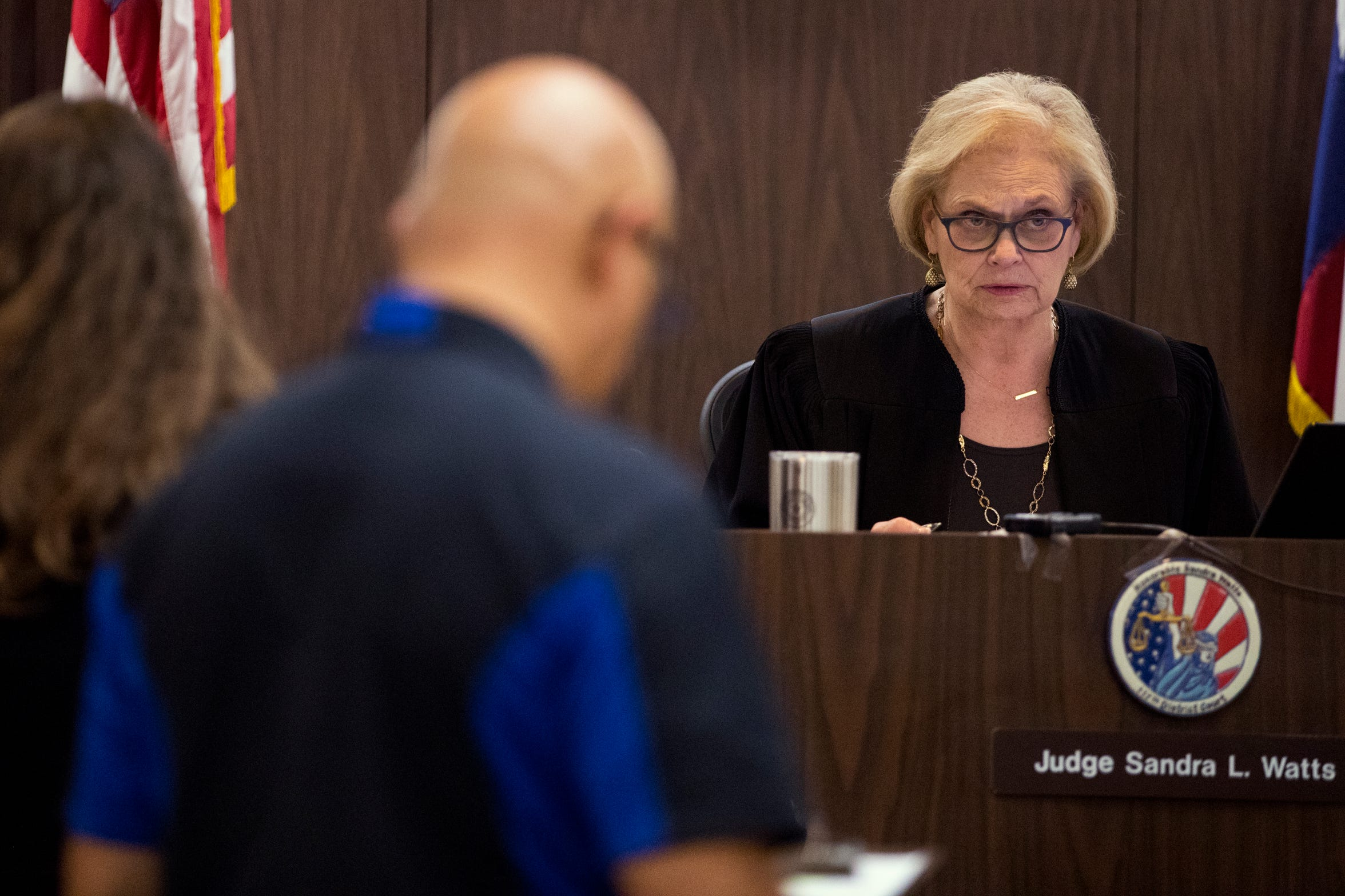 117th District Court Judge Sandra Watts hears cases on March 14, 2019. There are more women judges than ever in Nueces County.