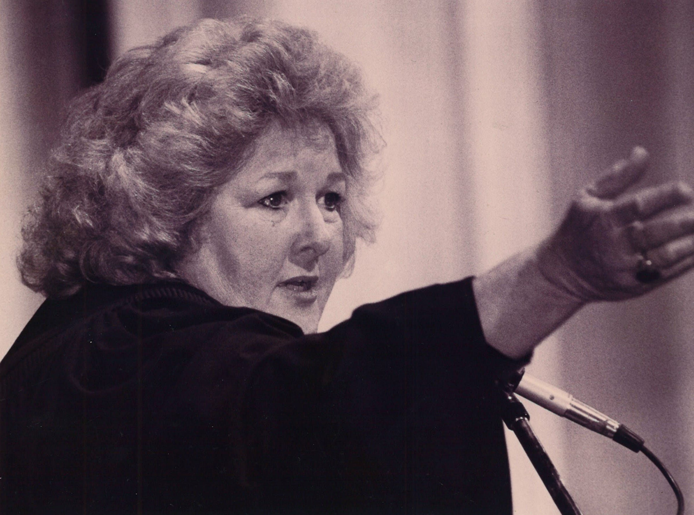 Judge Janis Graham Jack at her investiture ceremony on April 7, 1994 in Corpus Christi. Jack was the first woman federal judge to serve in Texas south of San Antonio.
