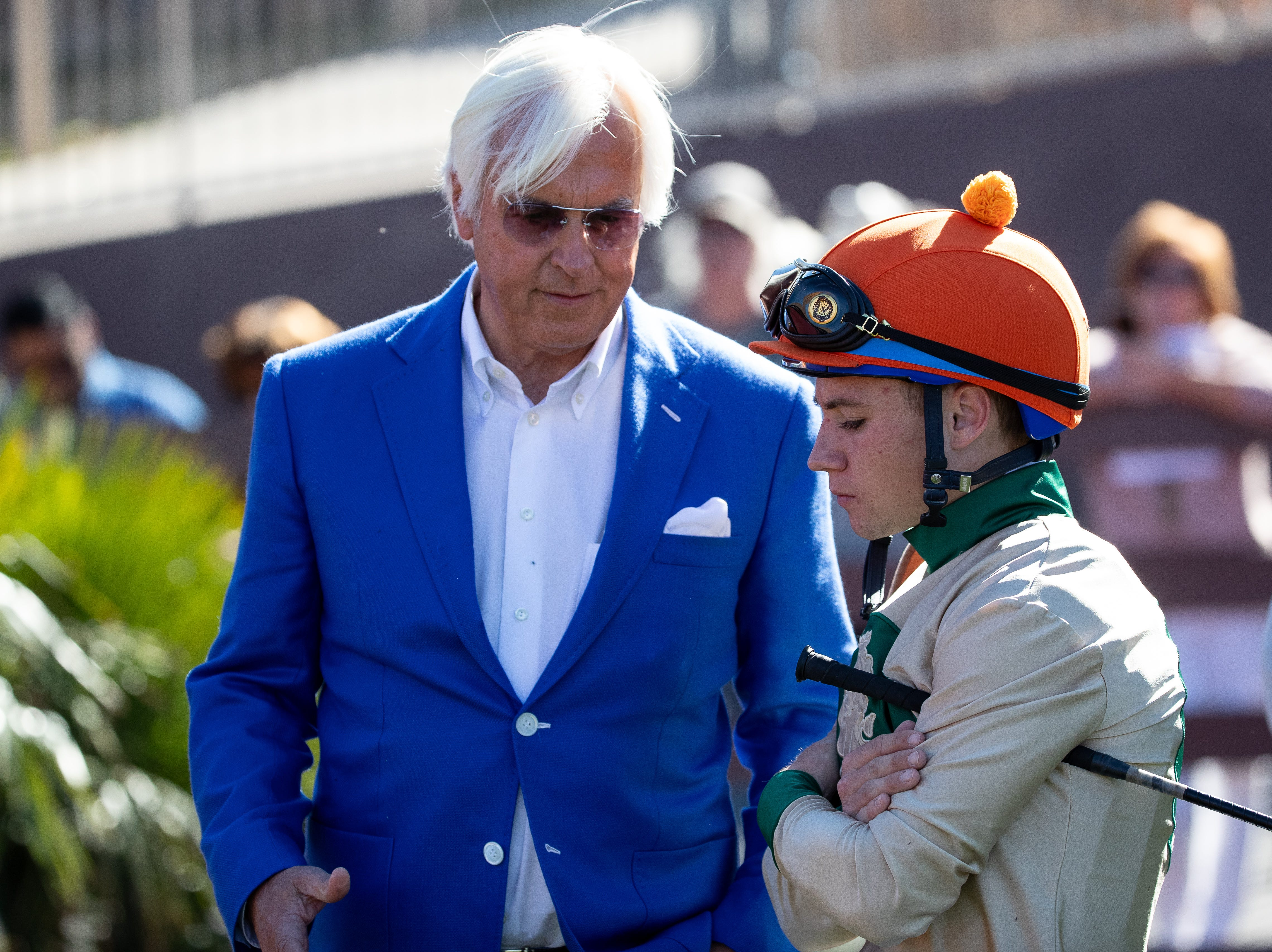 Trainer Bob Baffert's horse Chasing Yesterday wins the Sunland Oaks  at the Sunland Park Racetrack & Casino in New Mexico on Sunday, March 24, 2019