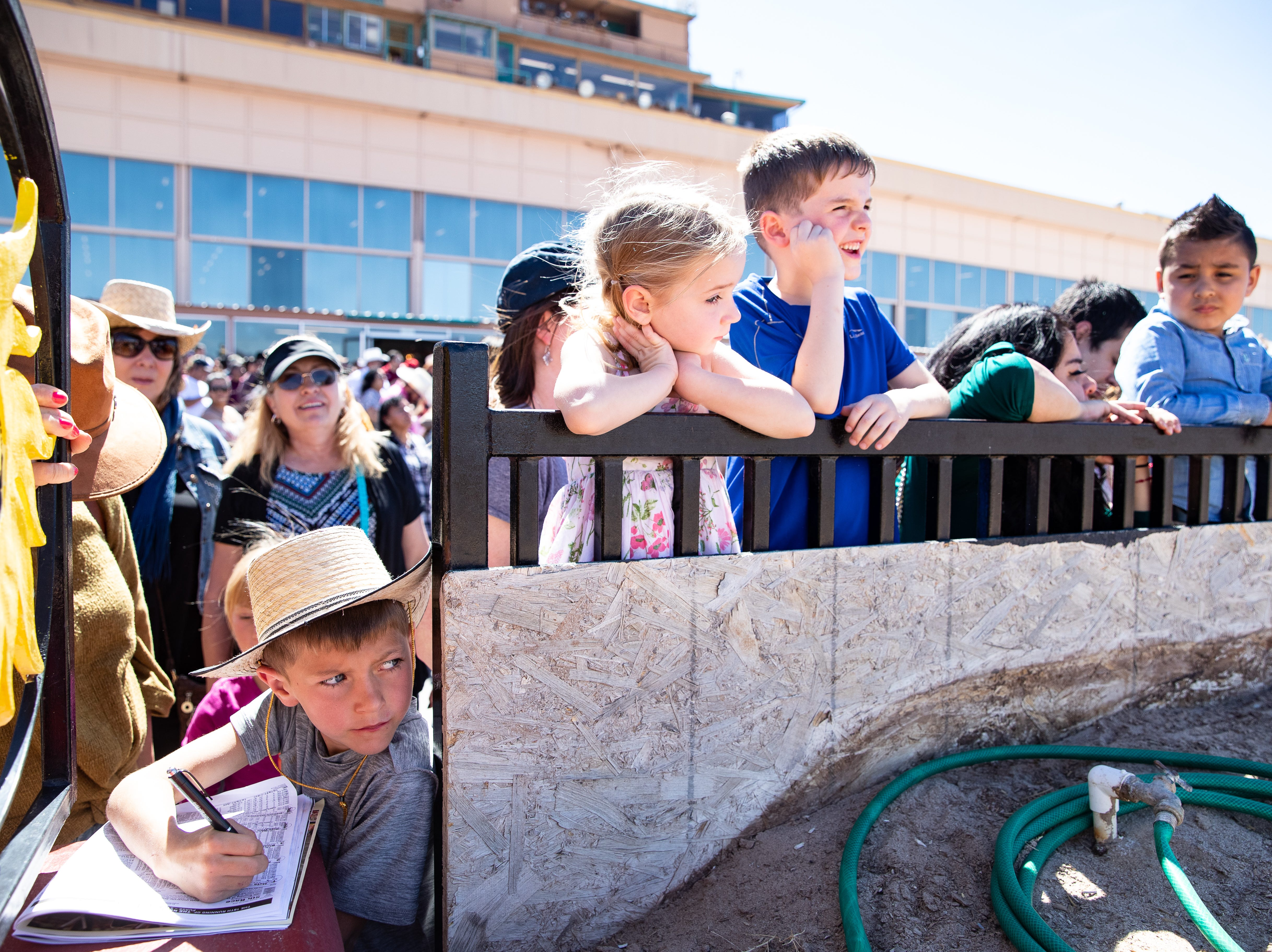 Early races at the Sunland Park Racetrack & Casino before the $200,000 purse Sunland Oaks and $800,000 purse Sunland Derby at the Sunland Park Racetrack & Casino in New Mexico on Sunday, March 24, 2019