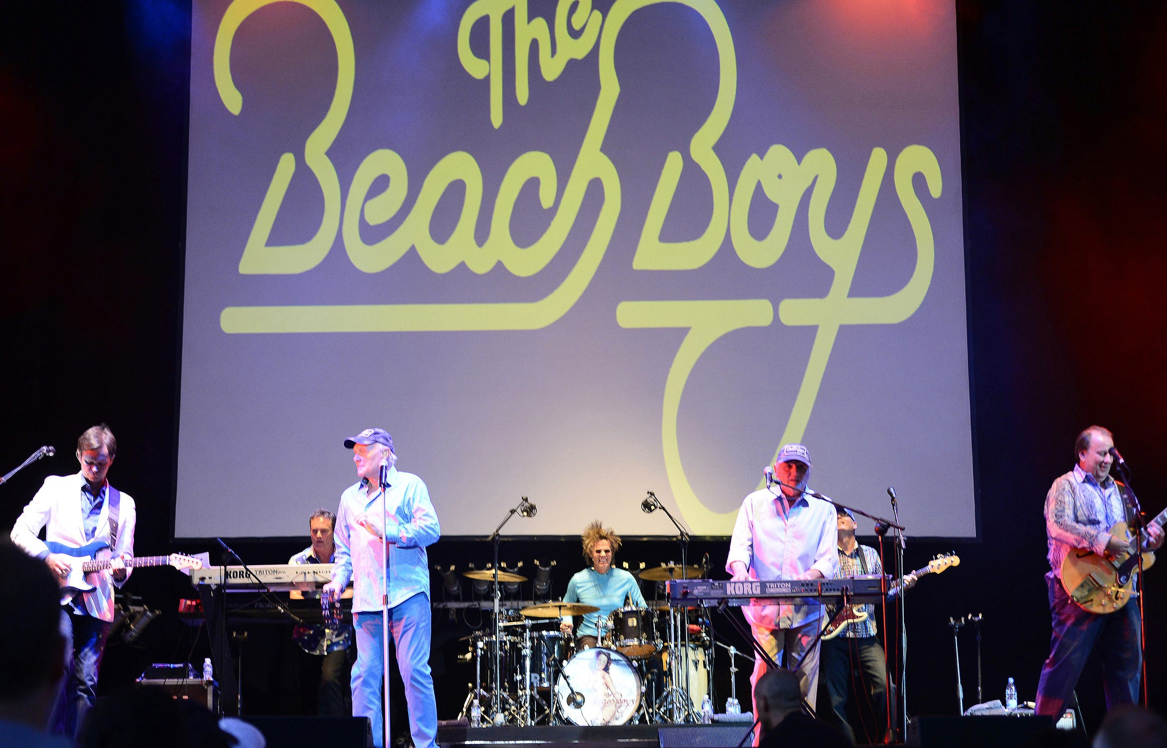 The Beach Boys perform at the American Bank Center Friday.