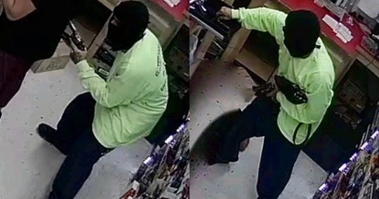 Corpus Christi police need help identifying a man accused of robbing a convenience store in the 4200 block of Carroll Lane on Monday, March 25, 2019.