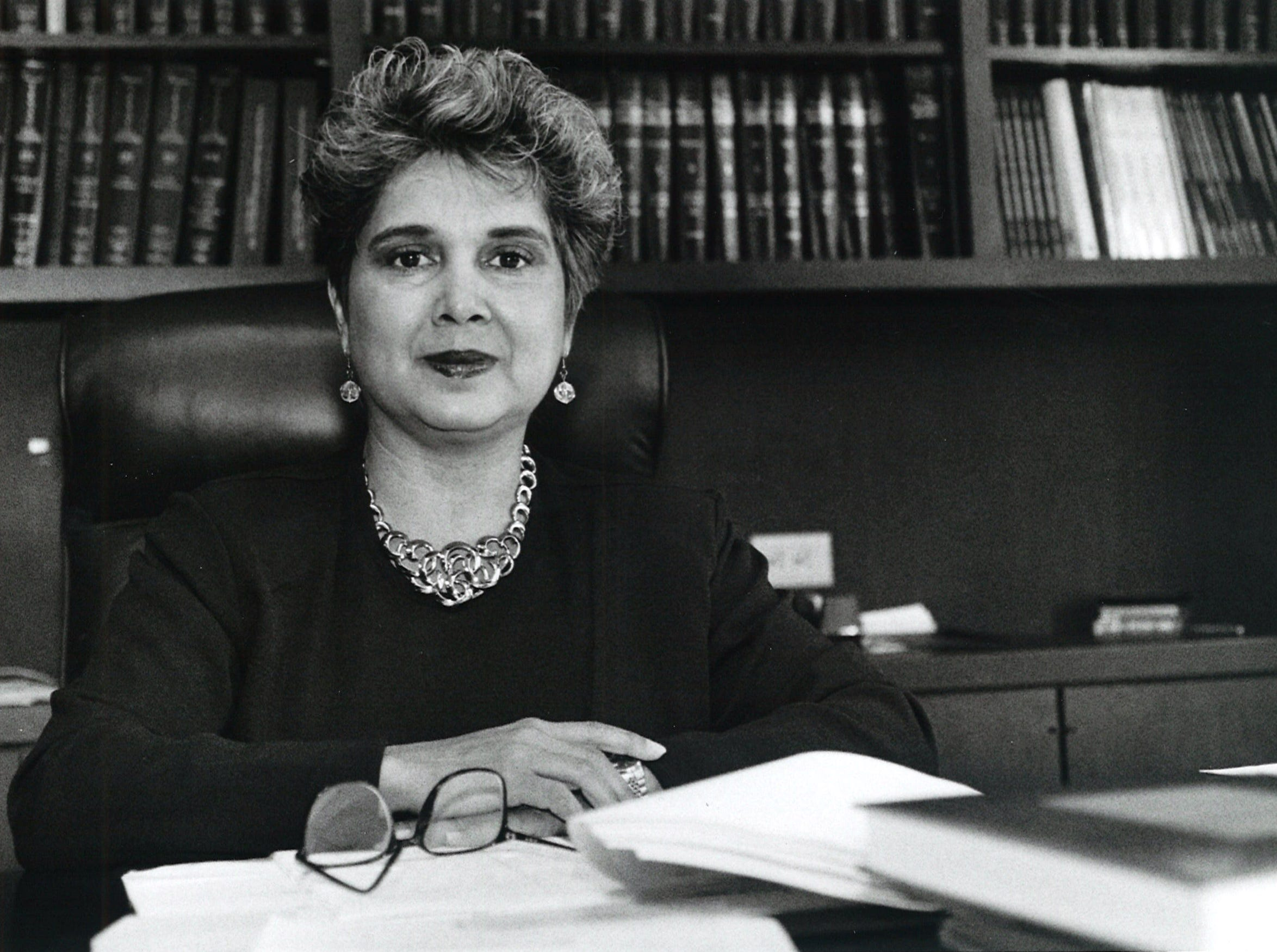 Justice Linda Reyna Yanez in September 1993. She was the first woman to serve as a justice on the 13th Court of Appeals of Texas and was the firstand only Hispanicwoman sitting on a Texas appellate bench at thetime of her appointment.