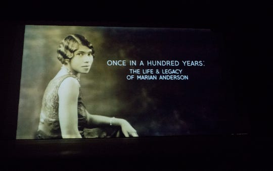 """A documentary entitled, """"Once in a Hundred Years:  The Life & Legacy of Marian Anderson"""",  is screened at Camden Catholic High School in Cherry Hill on Thursday, March 21, 2019 .   Bill Nicoletti, a former Cherry Hill resident and Camden Catholic alum, is the producer and director of the documentary."""