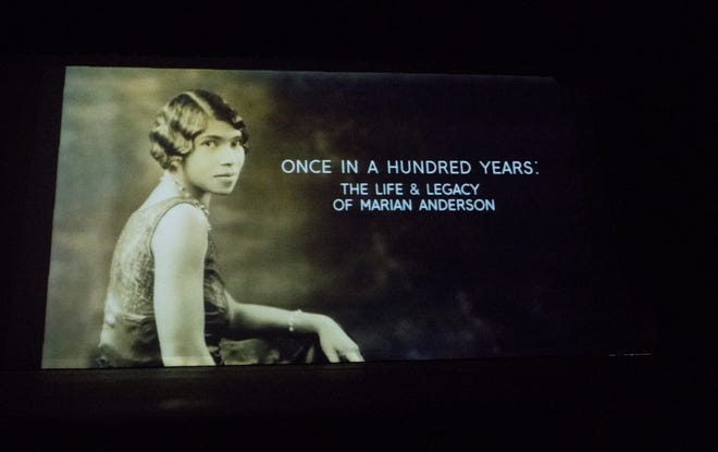 "A documentary entitled, ""Once in a Hundred Years:  The Life & Legacy of Marian Anderson"",  is screened at Camden Catholic High School in Cherry Hill on Thursday, March 21, 2019 .   Bill Nicoletti, a former Cherry Hill resident and Camden Catholic alum, is the producer and director of the documentary."