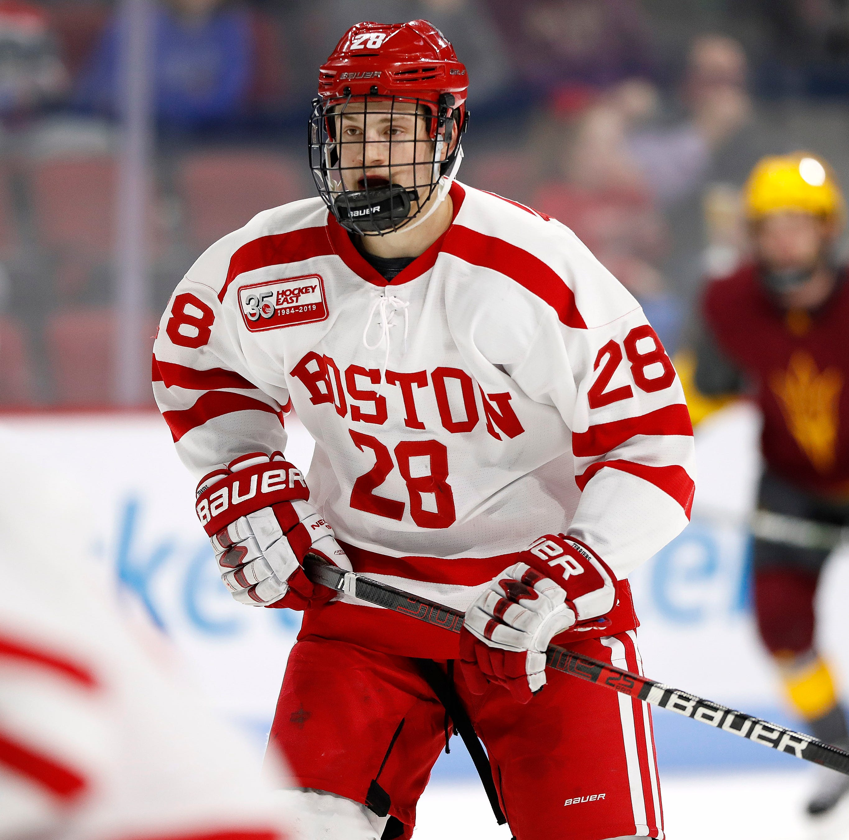 Joel Farabee leaves Boston University after one season, signs with Flyers