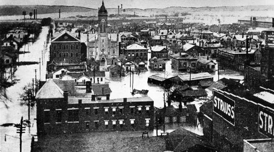 Hamilton, Ohio, was hit hard by the Great Miami River flood of 1913.