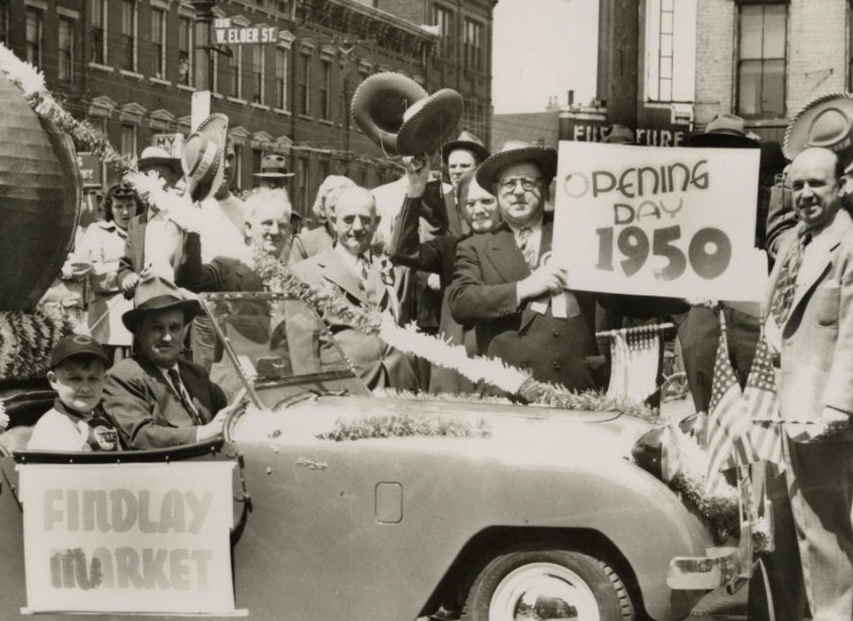 The Findlay Market Opening Day Parade, 1950, Cincinnati Reds Provided/Findlay Market