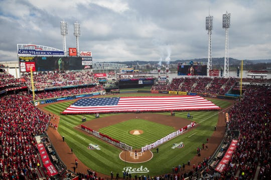 The Reds kick off the 2018 Opening Day at Great American Ball Park.