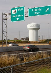 The Liberty Way interchange at Interstate 75 in Liberty Township opened in the fall of 2009.