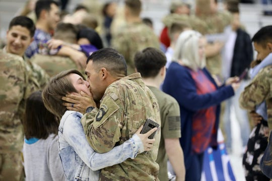 More than 100 soldiers assigned to 1st Battalion, 502nd Infantry Regiment, 2nd Brigade Combat Team, 101st Airborne Division returned to Fort Campbell from their deployment to Cameroon on March 24, 2019.