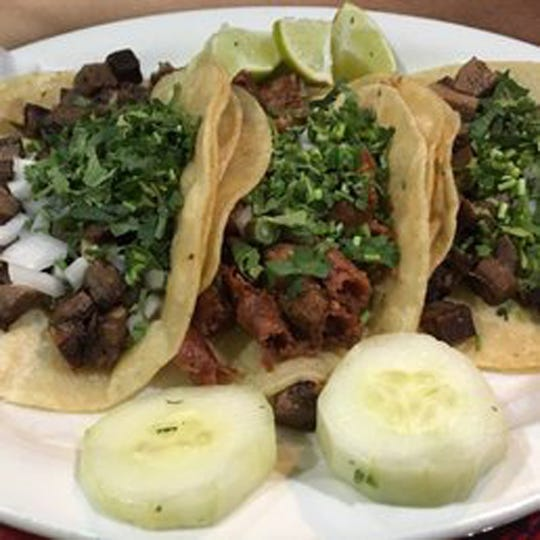 Alcapulco in Raritan Borough serves cow tongue tacos.