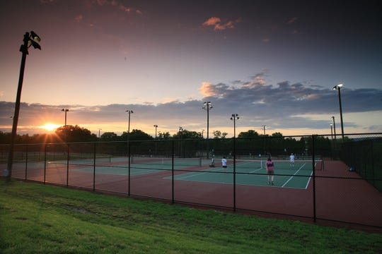 Somerset County Park Commission Tennis Courts on Garretson Road in Bridgewater and at Colonial Park in the Somerset section of Franklin Township open for play on Saturday, March 30.