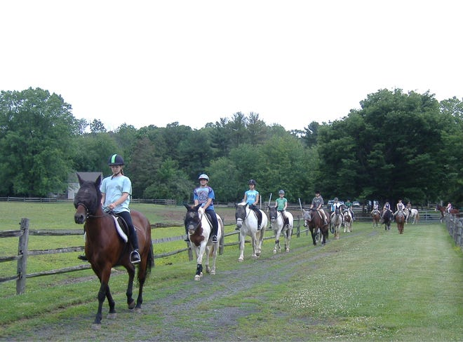 Riders enjoy the Spring Nature Ride at Lord Stirling Stable, 256 South Maple Ave. in the Basking Ridge section of Bernards.