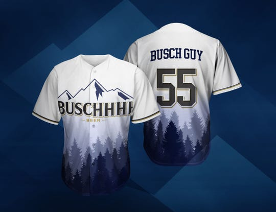 Anheuser-Busch is running a contest to sponsor 10 recreational-league baseball or softball teams nationwide this summer. Winning teams will split a minimum of $5,000 cash and get these jerseys, among other perks.