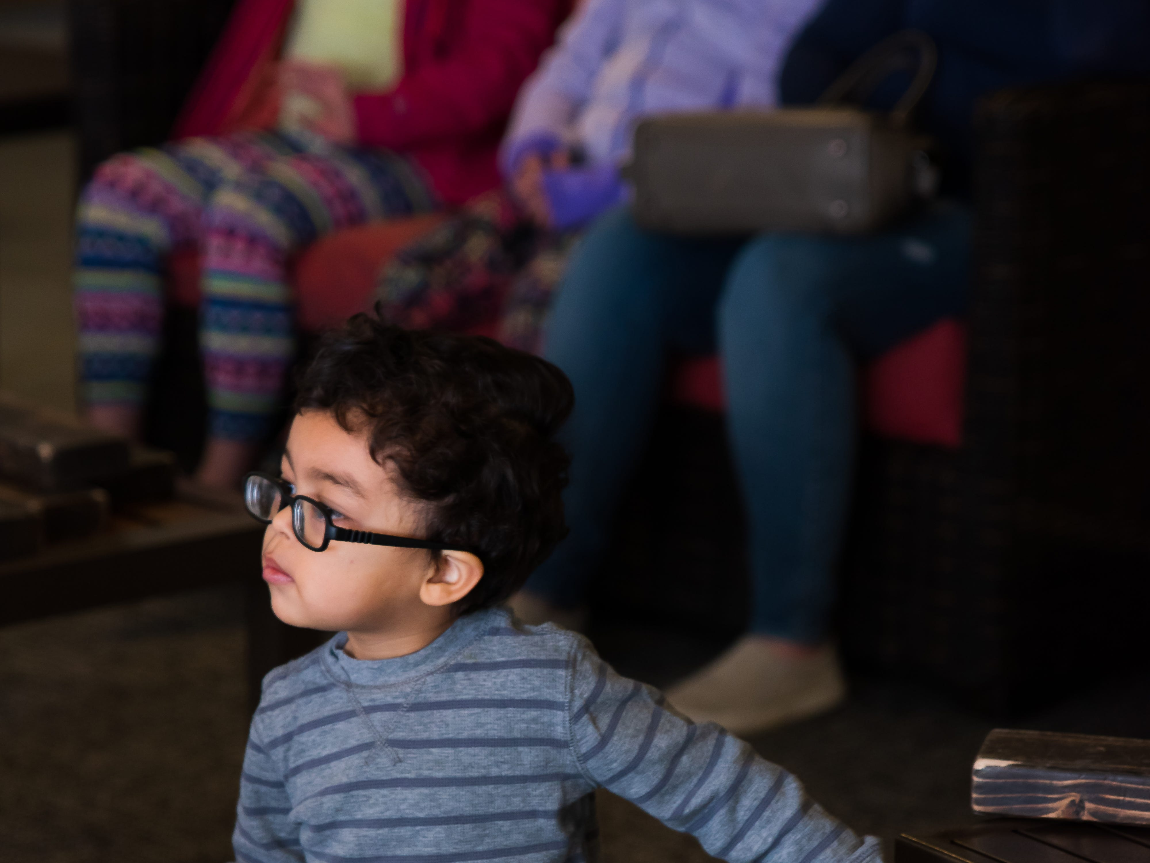 Alistar Lewis, 2, of Waukee attends the Science Center program Wednesday, March 20, 2019, at the Outlets of Des Moines in Altoona.