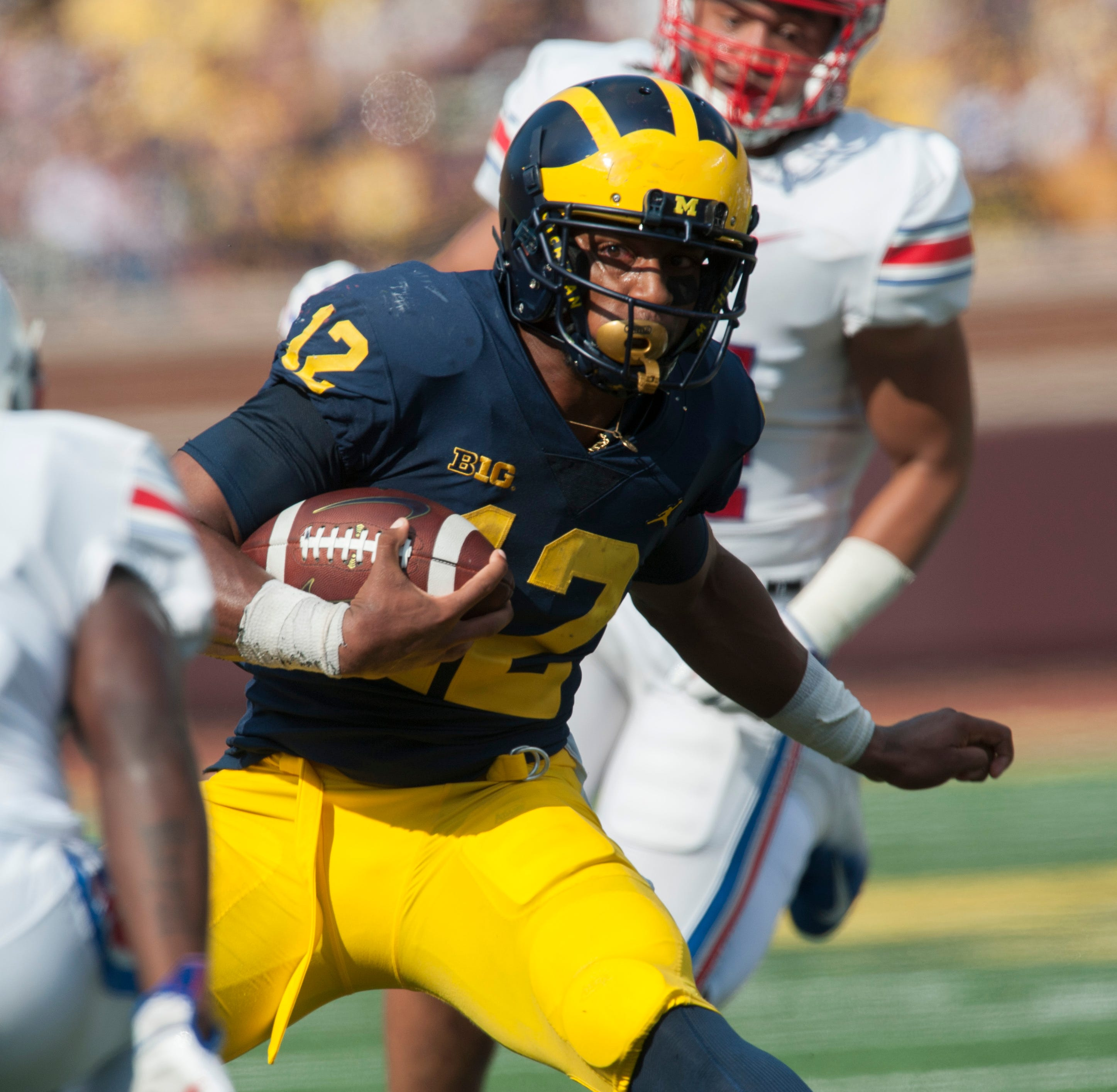 'Keep pushing': Suspended Michigan RB Chris Evans finds himself on outside looking in