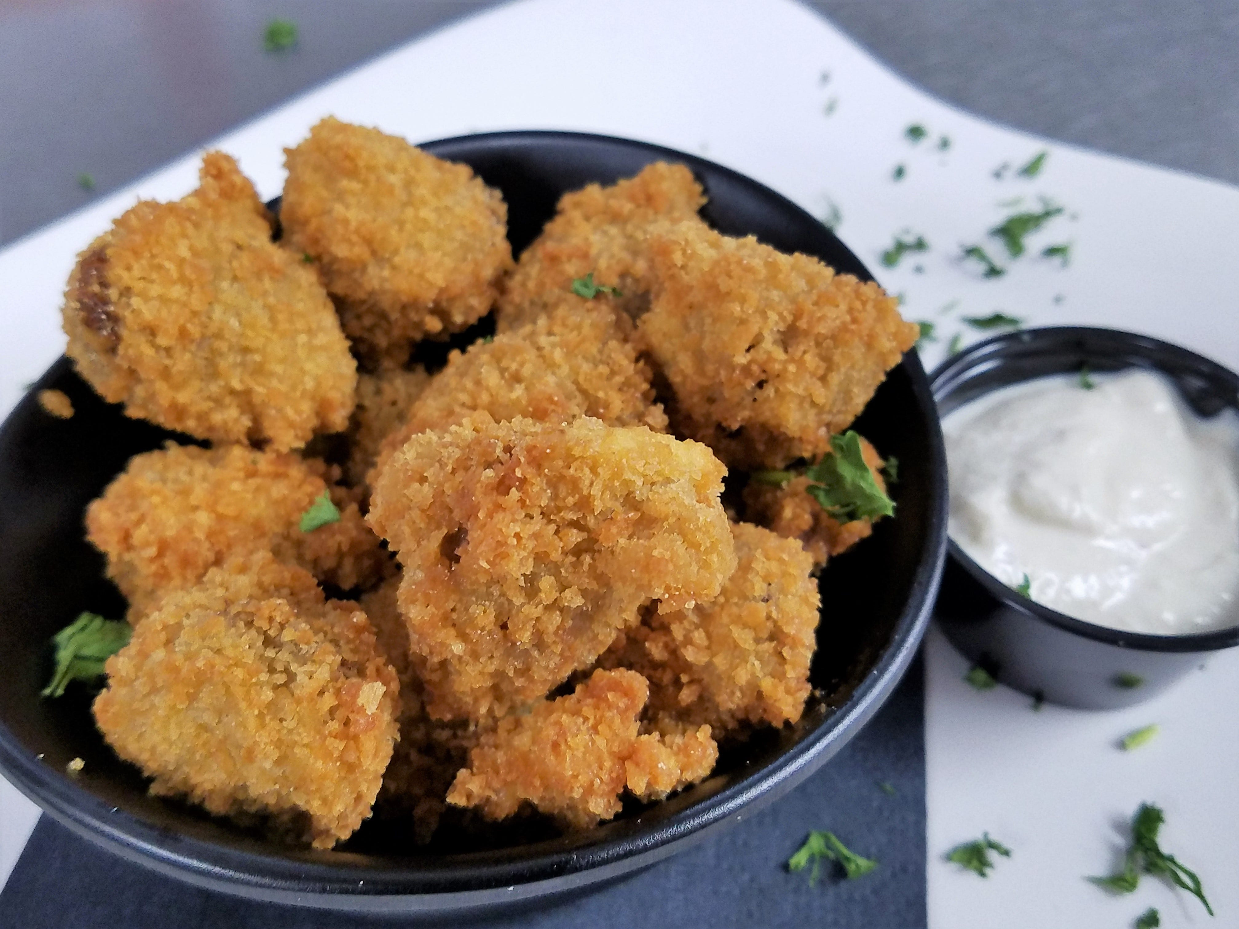 "Crunchy prime rib ""bites"" with horseradish at Prime Time Pub & Grill."