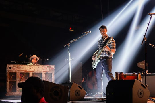 Bob Crawford (vocals and bass) opened the Avett Brothers show on electric bass but broke out the upright bass later on in the set at the Avett Brothers concert held in the Donald L. Tucker Civic Center on Sunday, March 11, 2019.