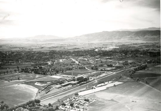 The Great Western Sugar Factory, pictured in the bottom center of this 1937 photograph, sat in northeastern Fort Collins from 1903 until 1967.