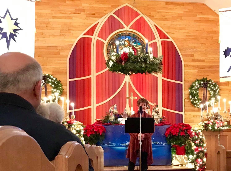 Choteau United Methodist Church on Christmas Eve