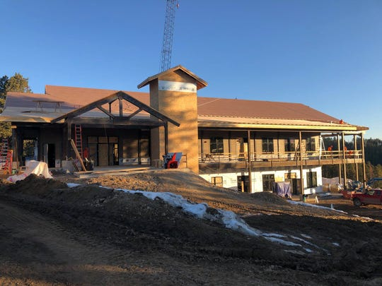 Work progresses on a new lodge at the K-M Scout Ranch north of Lewistown.