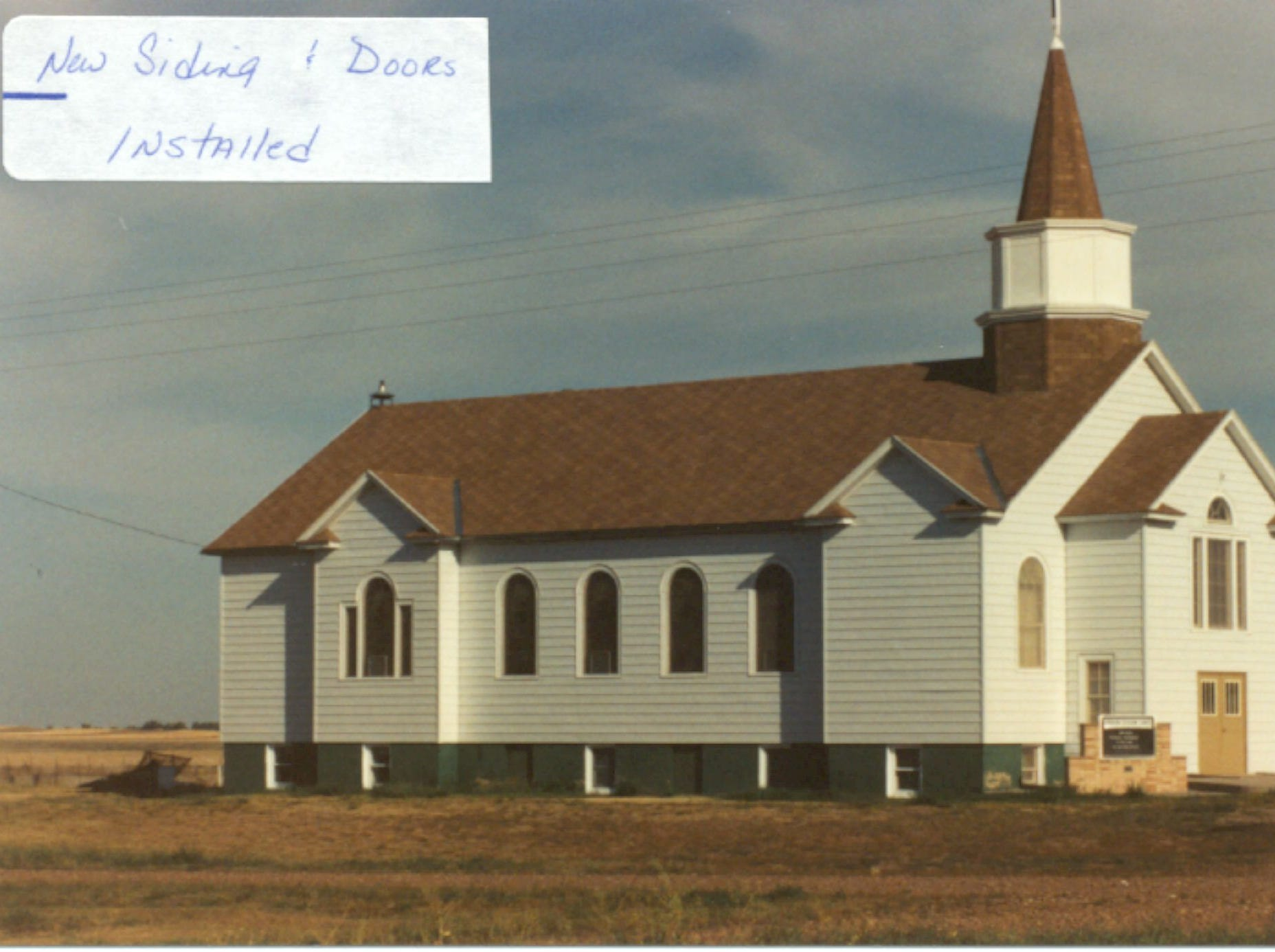 A photo of American Lutheran Church in Turner before it burned to the ground.