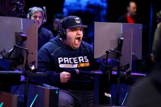 WoLF 74 of Pacers Gaming against Mavs Gaming during the NBA 2K League Tip Off Tournament on May 4, 2018 at Brooklyn Studios in Long Island City, New York.