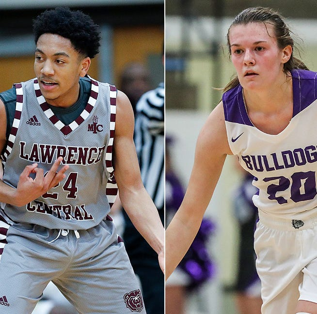 Lawrence Central's Nijel Pack (left) and Brownsburg's Allison Bosse (right) will play in the 2019 Raymond James Hall of Fame Classic.