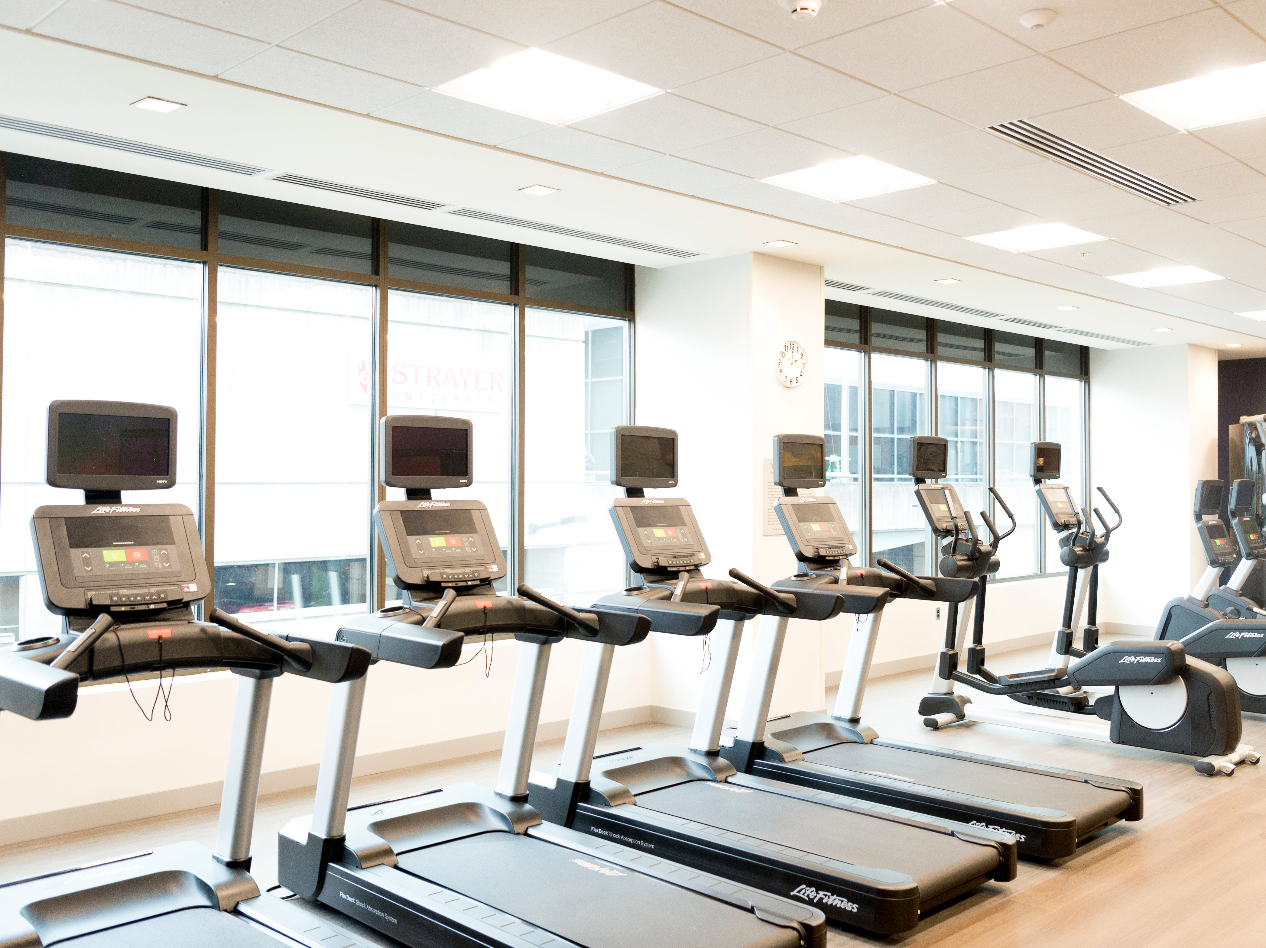 A gym room inside the new Courtyard and Residence Inn by Marriott at 210 Church Ave. in Knoxville, Tennessee on Monday, March 25, 2019. The hotel is the first of its kind in Knoxville to offer two different tiers of hospitality within the same building.