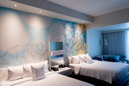 A view of the Courtyard two-bedroom room inside the new Courtyard and Residence Inn by Marriott at 210 Church Ave. in Knoxville.