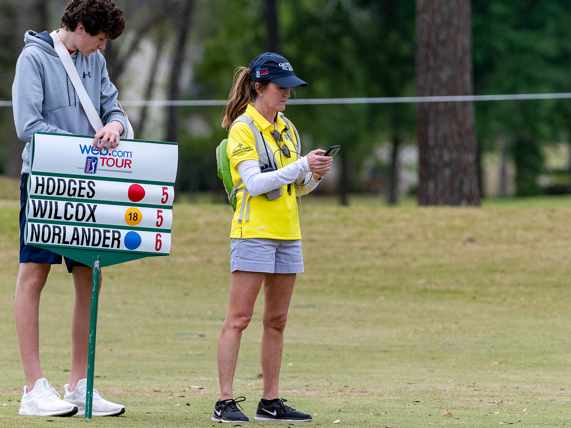 Tournament Volunteer Angela Stewart during the final round of the Web.com 2019 Chitimacha Louisiana Open presented by Mistras at Le Triomphe. Sunday, March 24, 2019.