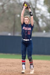 Notre Dame's Sydnei Simon has been dominant in the circle for the Lady Pios, going 16-0 with a 0.87 ERA.