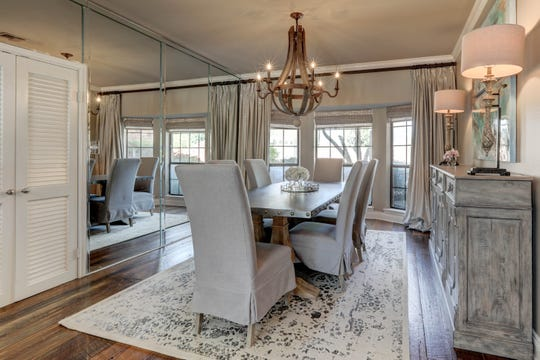 The gorgeous dining room is perfect for any size gathering.