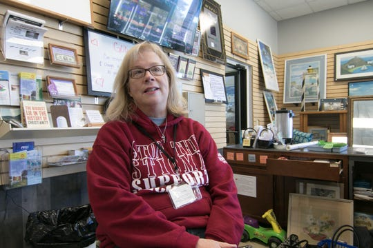 Second Chance Support Network executive director Jennifer Bigelow talks about the store, shown Monday, March 25, 2019, which has to relocate.