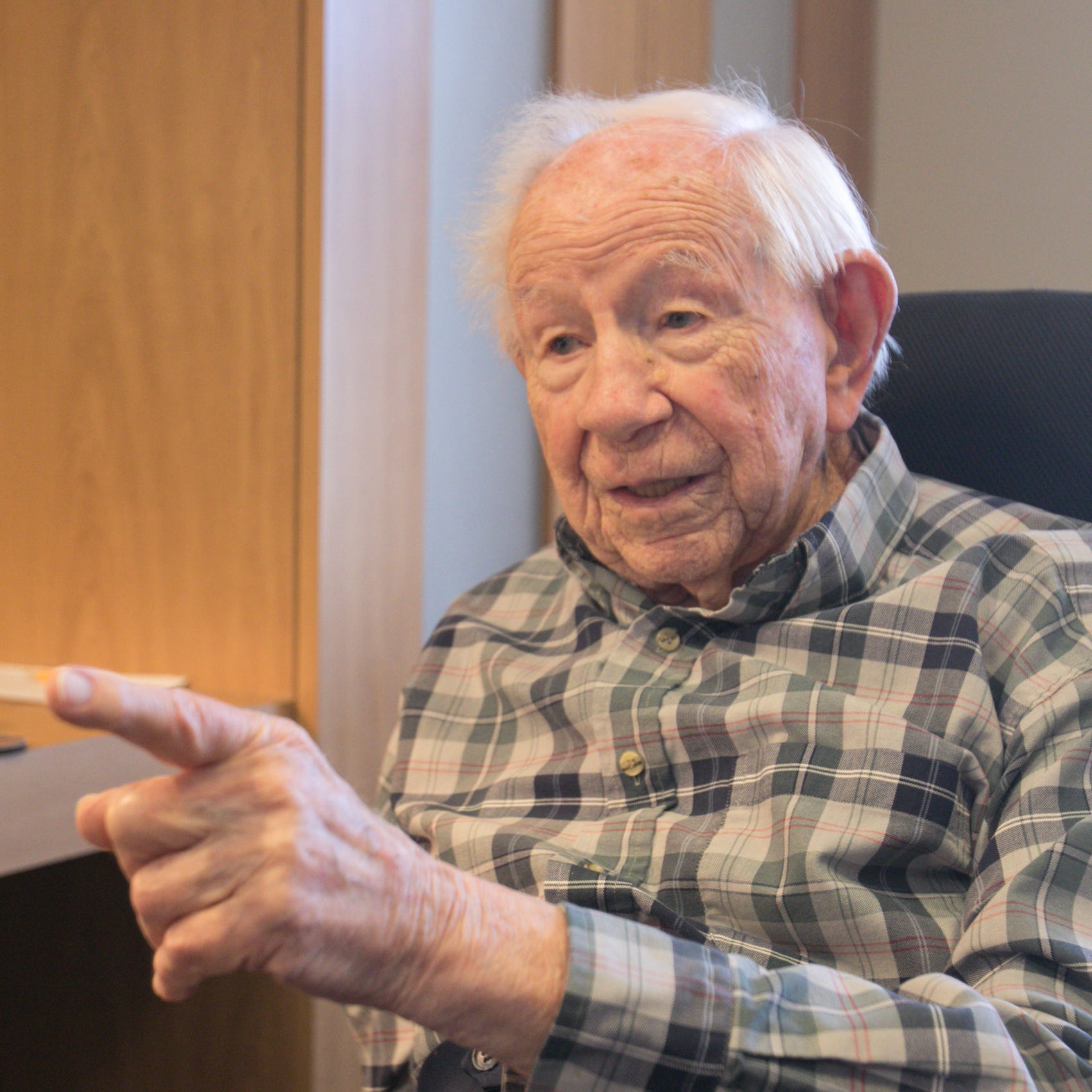 Ed Yoas served in World War II, built a business, raised a family. On Monday he turned 105