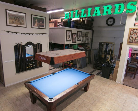 Pro Billiards in Green Oak Township, shown Monday, March 25, 2019, will move to a larger location in Brighton Township to expand its showroom and repair space.