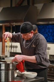 "Round 1 Action Chef Andy Richmer of Madison, Indiana on Food Network's ""Chopped"""
