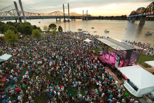WFPK's Waterfront Wednesday at Louisville Waterfront Park.