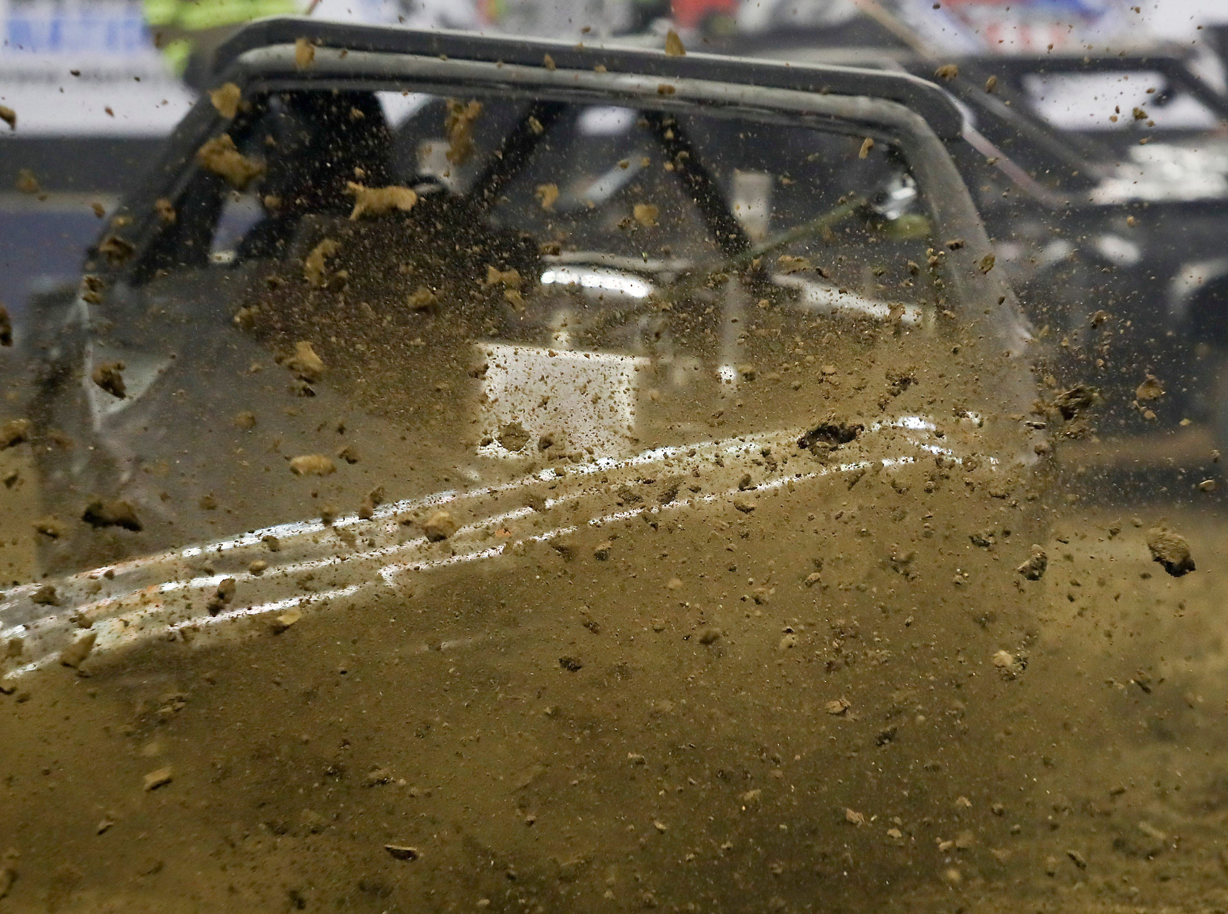 Metal crunching and dirt flying entertained the crowd at the 4th annual Bluegrass Bash Demolition Derby in Freedom Hall on March 23.
